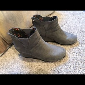 Grey booties size 11
